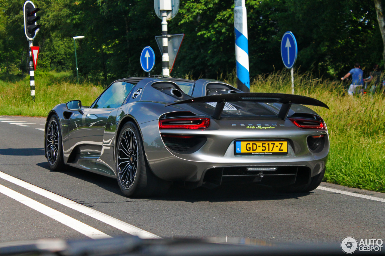 porsche 918 spyder 5 juni 2016 autogespot. Black Bedroom Furniture Sets. Home Design Ideas