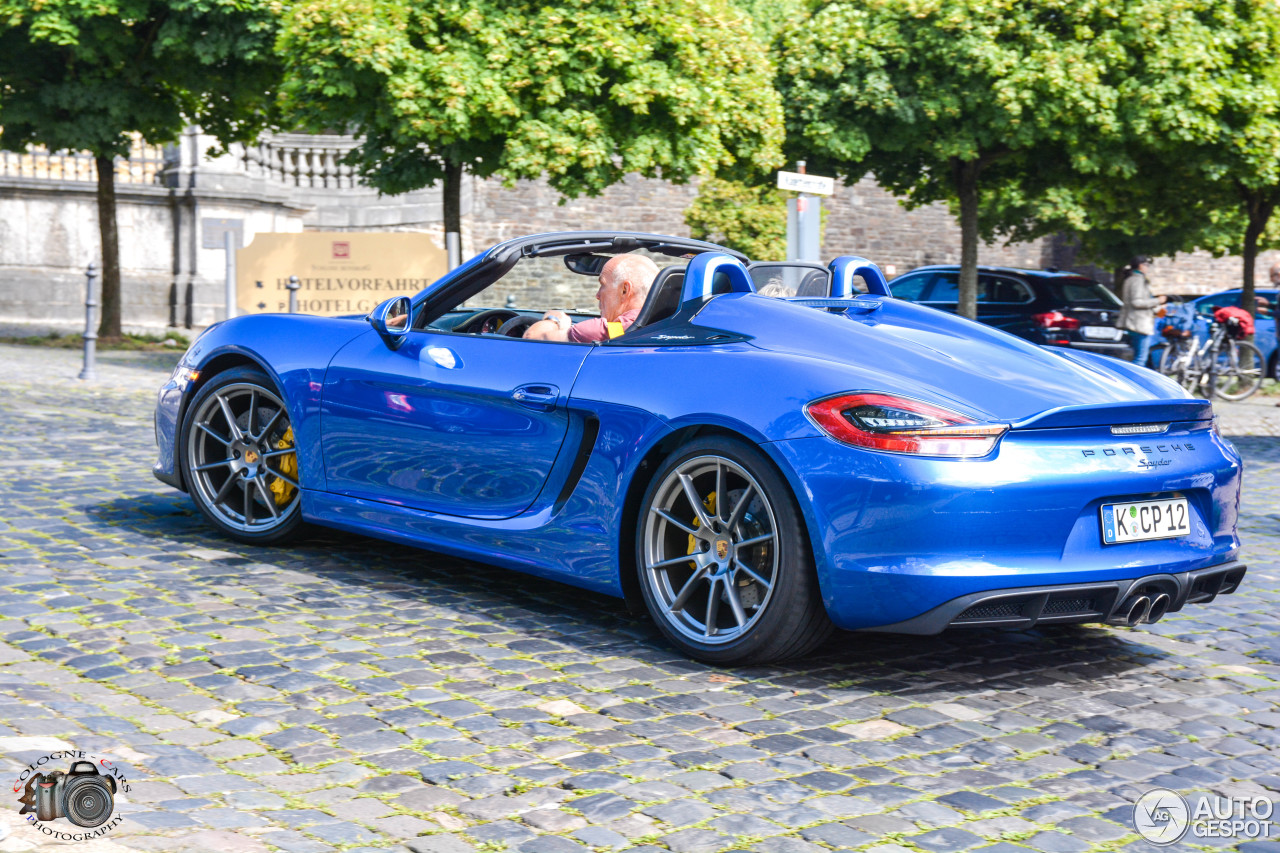 porsche 981 boxster spyder 6 july 2016 autogespot. Black Bedroom Furniture Sets. Home Design Ideas
