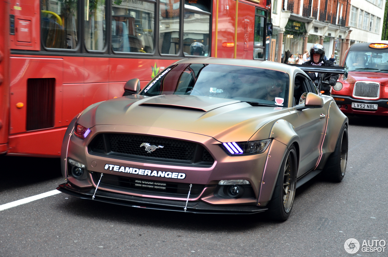 ford mustang gt 2015 deranged widebody supercharged 19 july 2016 autogespot. Black Bedroom Furniture Sets. Home Design Ideas