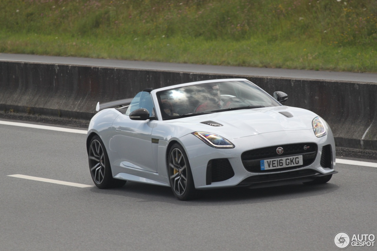 jaguar f type svr convertible 20 july 2016 autogespot. Black Bedroom Furniture Sets. Home Design Ideas