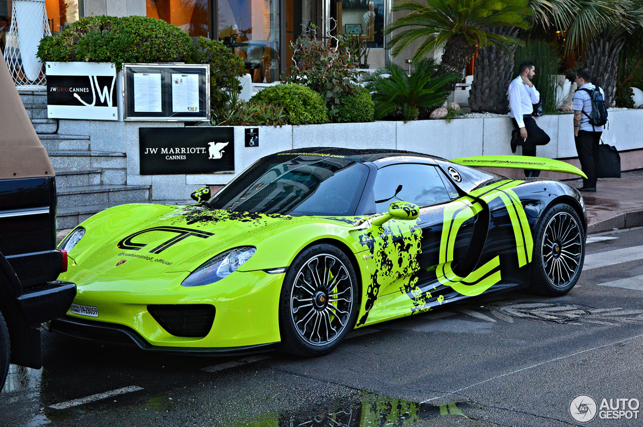 porsche 918 spyder 9 august 2016 autogespot. Black Bedroom Furniture Sets. Home Design Ideas