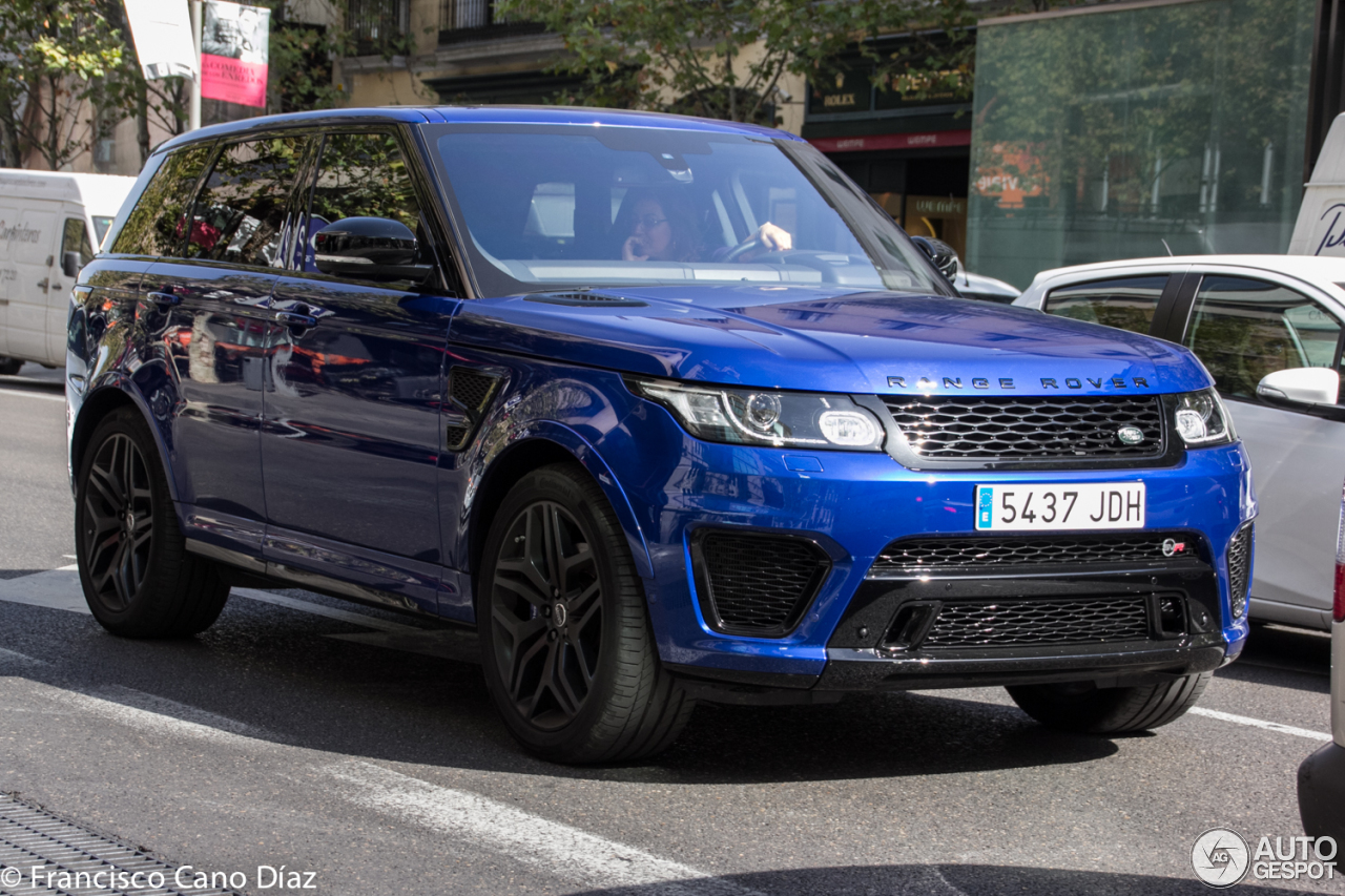 land rover range rover sport svr 5 october 2016 autogespot. Black Bedroom Furniture Sets. Home Design Ideas